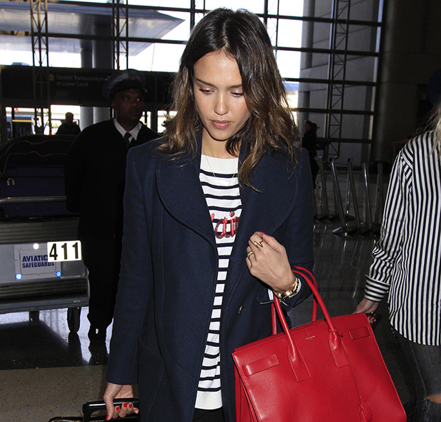 Jessica Alba Saint Laurent Sac de Jour Bag