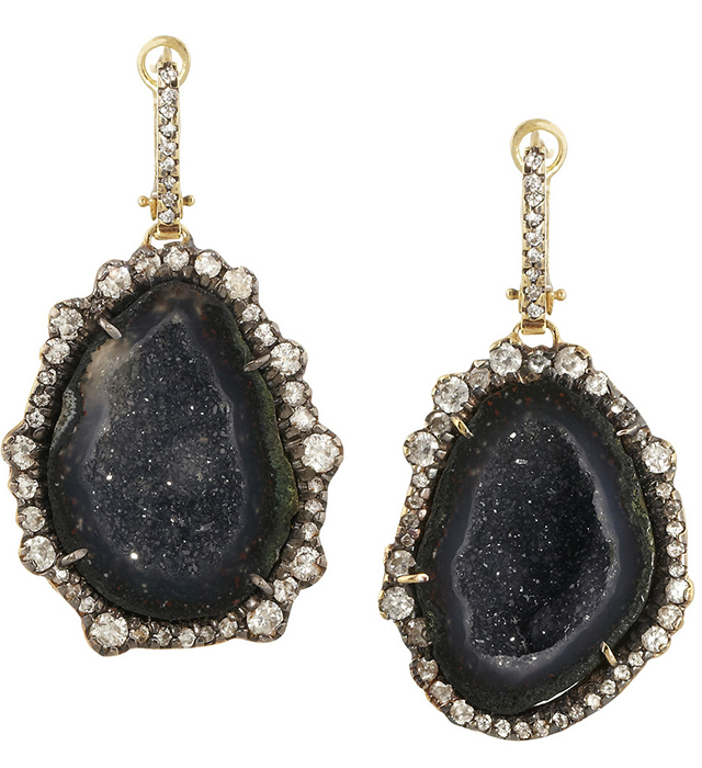 Kimberly McDonald Geode and Diamond Earrings