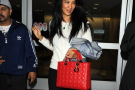 Kimora Lee Simmons Flies in Style with a Dior Bag
