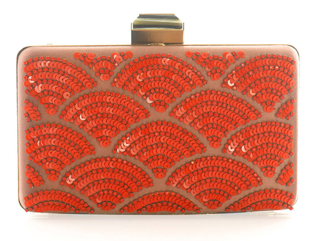 Lanvin Fan Sequined Clutch