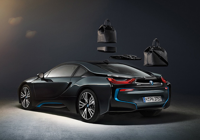 Louis Vuitton x BMW i8 Carbon Fiber Luggage 2