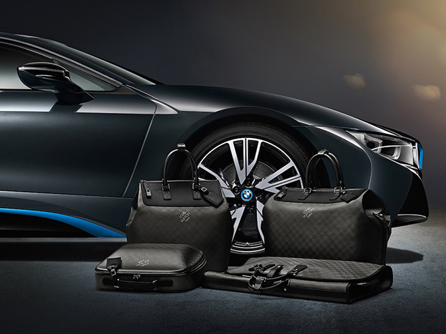 Louis Vuitton x BMW i8 Carbon Fiber Luggage 3
