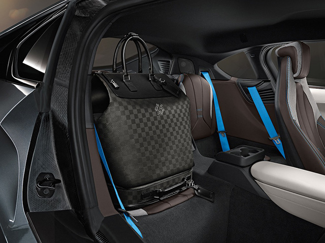 Louis Vuitton x BMW i8 Carbon Fiber Luggage 4