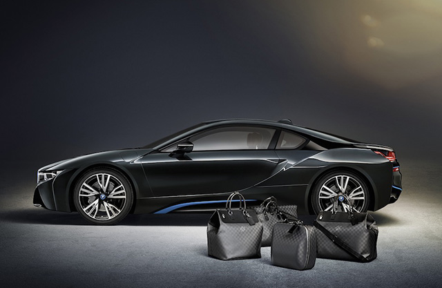 Louis Vuitton x BMW i8 Carbon Fiber Luggage 6