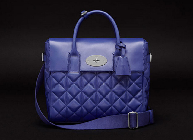 Mulberry Cara Delevigne Quilted Blue Bag