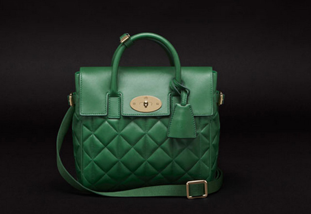 Mulberry Cara Delevingne Quilted Green Bag