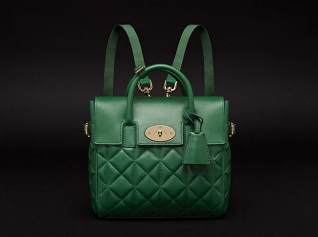 Mulberry Cara Delevingne Quilted Green Packpack