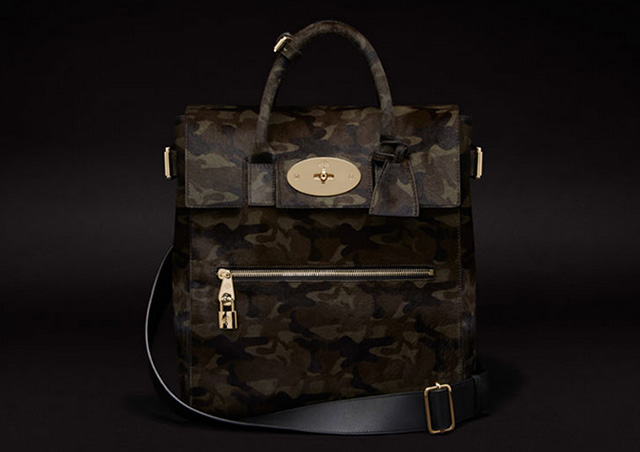 Mulberry Large Cara Delevigne Bag Camo