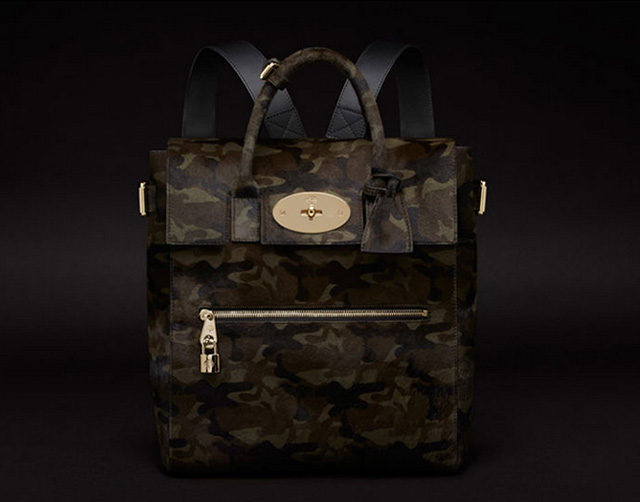 Mulberry Large Cara Delevingne Camo Backpack
