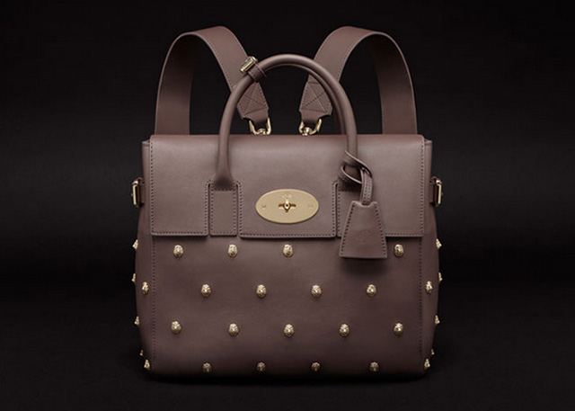Mulberry Limited Edition Cara Delevingne Backpack with Lion Rivets
