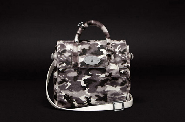 Mulberry Mini Caradelevingne White Camo Bag