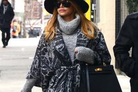 Naya Rivera Strolls NYC with Hermes