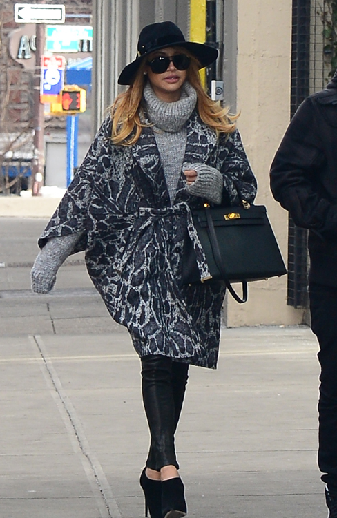 Naya Rivera Hermes Kelly Bag 4