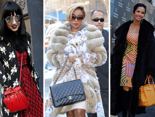 New York Fashion Week Fall 2014 Celebrity Handbags
