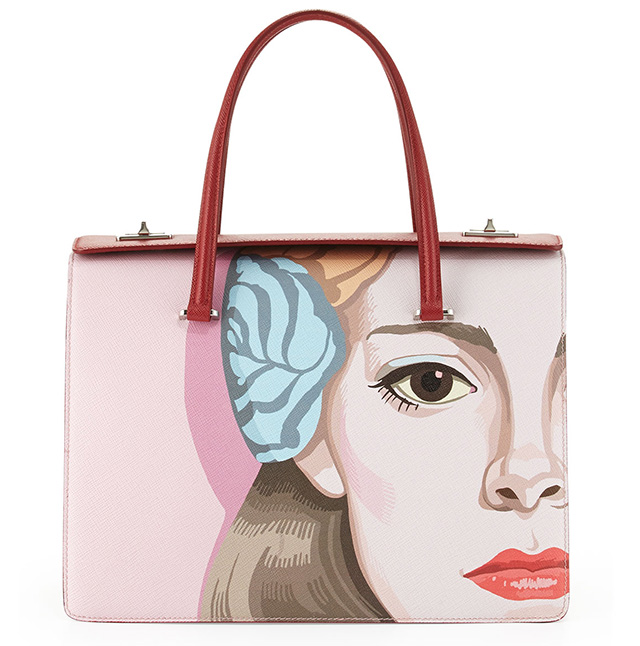 Prada S Face Art Bags Have Arrived