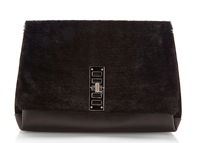 Proenza Schouler PS Elliot Bag Black Fur