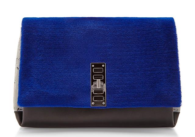 Proenza Schouler PS Elliot Bag Blue Fur