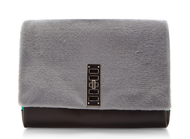 Proenza Schouler PS Elliot Bag Grey Fur