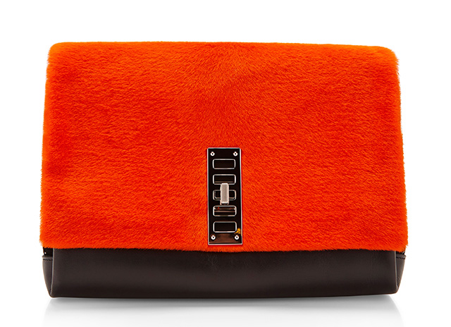 Proenza Schouler PS Elliot Bag Orange Fur