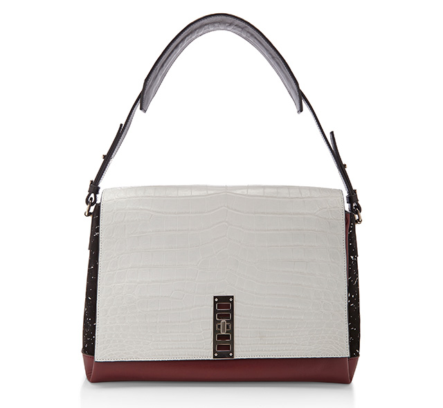 Proenza Schouler PS Elliott Shouler Bag White Croc