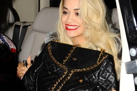 Rita Ora Carries a Moschino Bag That Looks Curiously Like Chanel