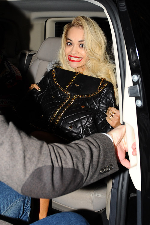 Rita Ora Moschino Quilted Suit Jacket Bag-3