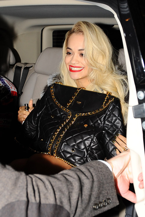 Rita Ora Moschino Quilted Suit Jacket Bag-4