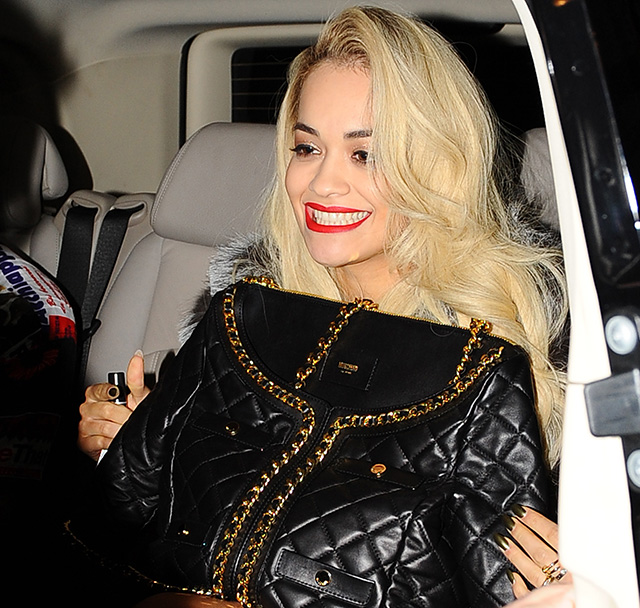Rita Ora Carries A Moschino Bag That Looks Curiously Like