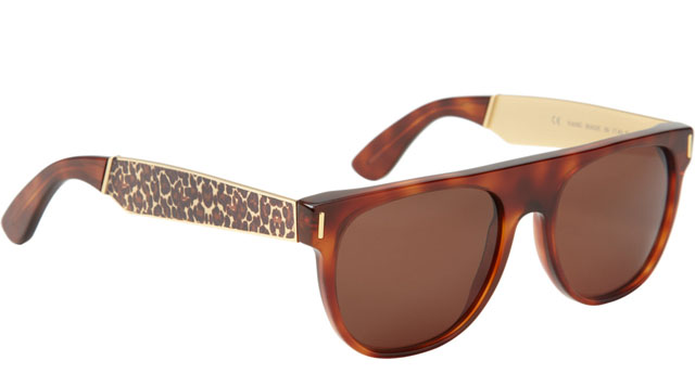 SUPER SUNGLASSES Leopard Flat Top