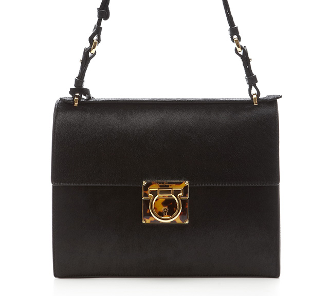 Salvatore Ferragamo Marisol Calf Hair Shoulder Bag