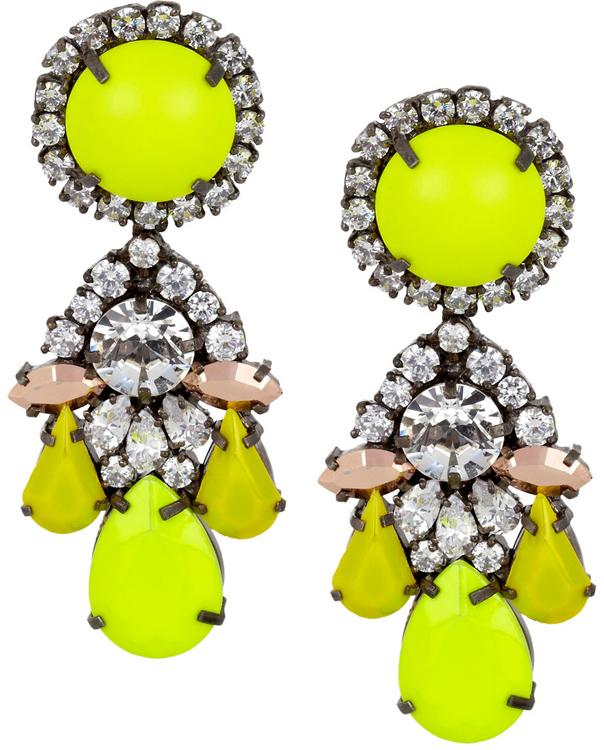 Shourouk Marguerite Swarovski Earrings