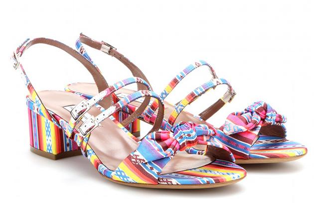 Tabitha Simmons Mopsy Silk Jacquard Sandals