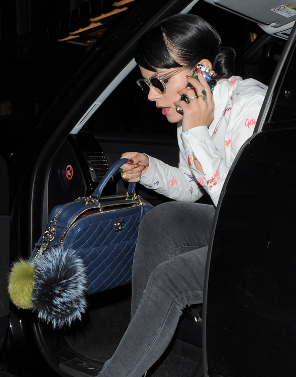 The Many Bags of London Fashion Week Fall 2014 Celebs-10