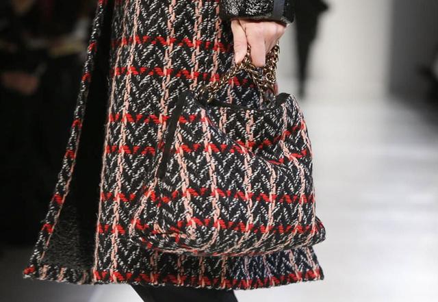 Victoria Beckham Fall 2014 Tweed Bag