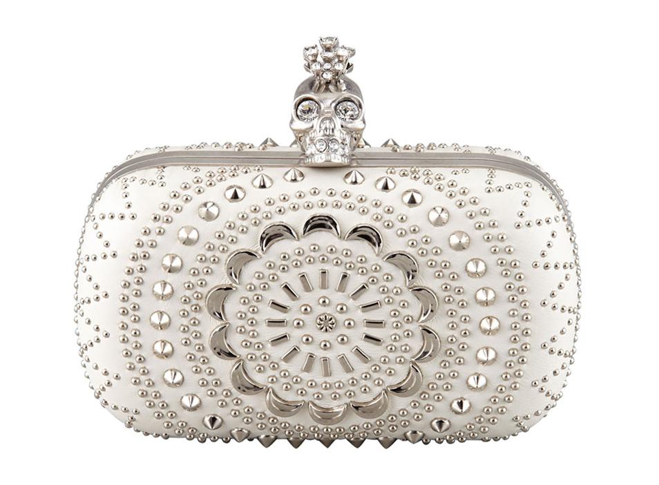 Alexander McQueen Studded Crochet Skull Minaudiere