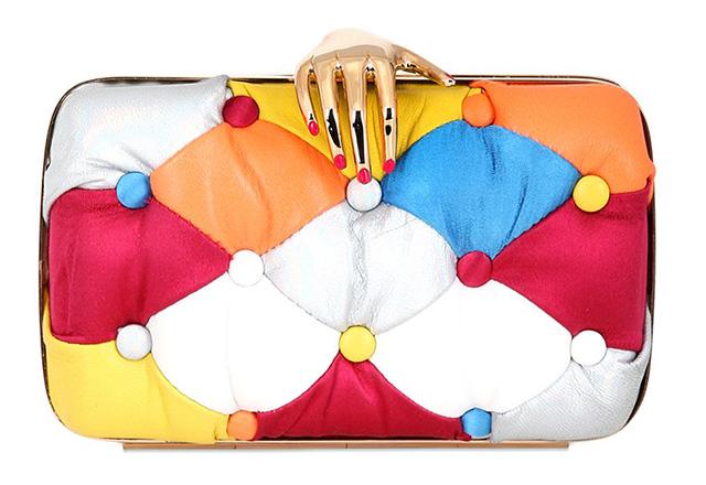 Benedetta Bruzziches Carmen Leather Patchwork Clutch