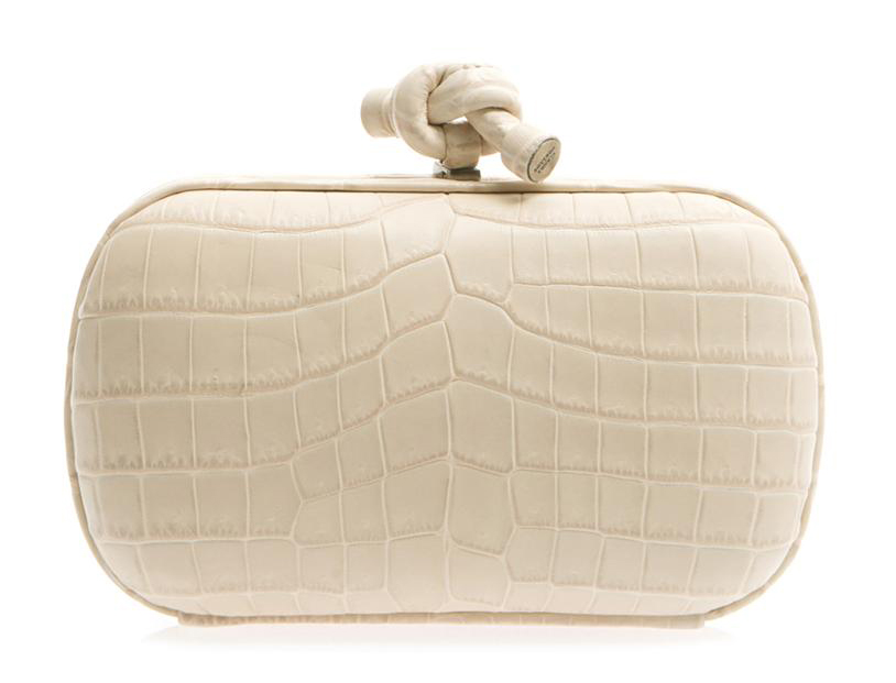 Bottega Veneta Crocodile Knot Clutch