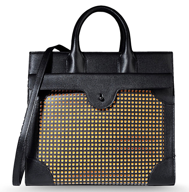 Carven Cutout Leather Tote