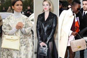 blue prada bag - 50 Bags and the Celebs Who Carried Them at Paris Fashion Week ...