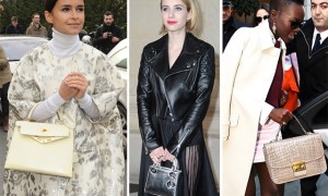 Celebrity Handbags Paris Fashion Week Fall 2014