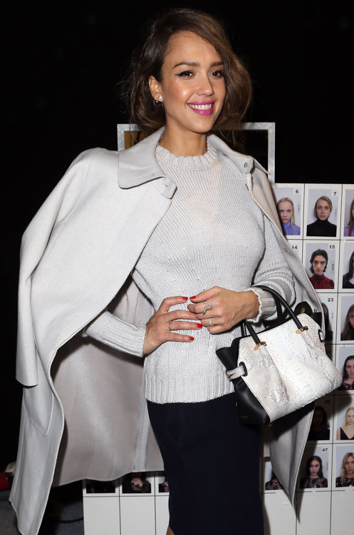 Celebrity Handbags at Paris Fashion Week Fall 2014-10