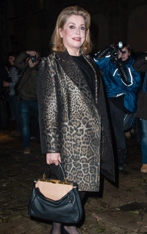 Celebrity Handbags at Paris Fashion Week Fall 2014-11
