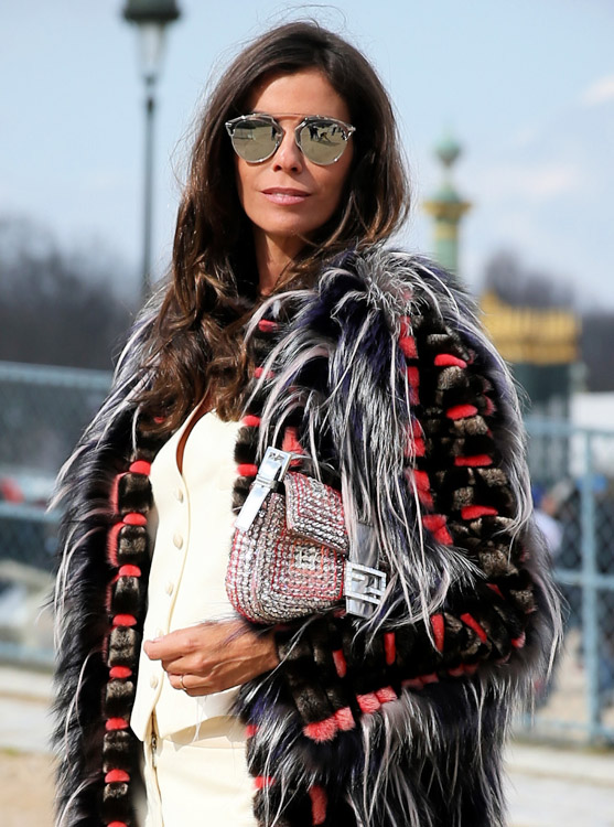 Celebrity Handbags at Paris Fashion Week Fall 2014-18