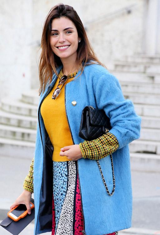 Celebrity Handbags at Paris Fashion Week Fall 2014-2