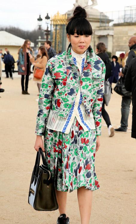 Celebrity Handbags at Paris Fashion Week Fall 2014-20