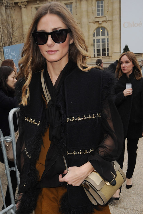 Celebrity Handbags at Paris Fashion Week Fall 2014-27