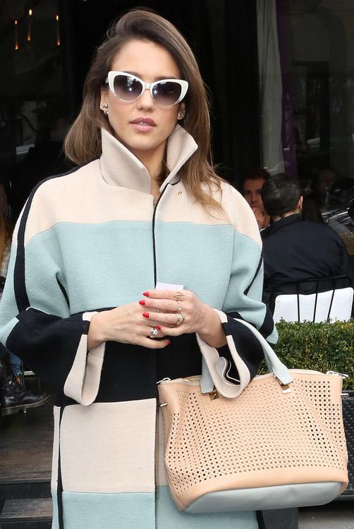Celebrity Handbags at Paris Fashion Week Fall 2014-28