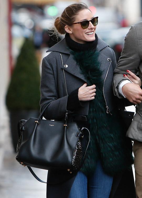 Celebrity Handbags at Paris Fashion Week Fall 2014-36