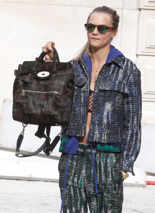Celebrity Handbags at Paris Fashion Week Fall 2014-37