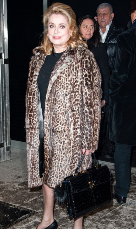 Celebrity Handbags at Paris Fashion Week Fall 2014-38